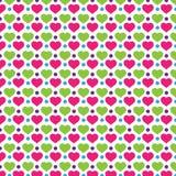 Liebe Polkadot-Hintergrund-Muster Lizenzfreie Stockfotografie