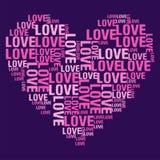 Liebe purpurrotes BG Lizenzfreies Stockfoto