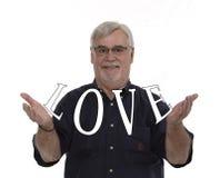 Liebe in seinen Händen Stockfoto