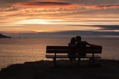 Liebe am Sonnenuntergang Stockbild