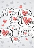 Liebe sprudelt Hintergrund Lizenzfreie Stockbilder
