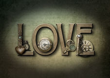 Liebe steampunk vektor abbildung