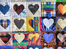 Liebe-themenorientierter Teppich oder Decke Lizenzfreie Stockfotos