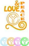 Liebe u. Frieden lizenzfreie abbildung