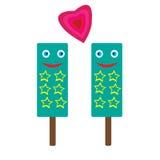 Liebe und Eiscreme Stockfotos