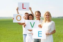 Liebe und Freundschaft stockfotografie