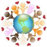 Liebe und Frieden für die Welt lizenzfreie abbildung