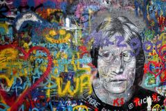 Liebe und Frieden mit John Lennon stockfoto