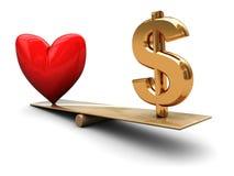 Liebe und Geld Lizenzfreie Stockfotografie