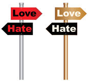 Liebe und Hass Lizenzfreie Stockfotografie