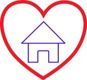 Liebe und Haus lizenzfreie stockbilder