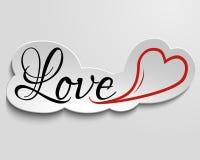 Liebe und Herz auf Papier. Lizenzfreies Stockfoto