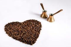 Liebe und Kaffee Stockfotos