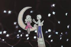 Liebe unter den Sternen Stockbild
