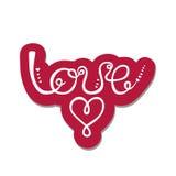 Liebe Valentinsgruß `s Tagesgrußkarte Stockbild