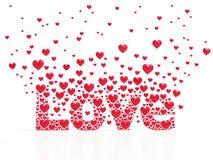 Liebe von den Herzen Stockbild