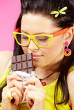 Liebe zur Schokolade stockfotos