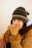 Lieben der Kälte lizenzfreies stockbild