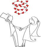 Lieben Sie den Braut- und Bräutigamvektor Lizenzfreie Stockfotos