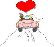 Lieben Sie die Braut und den Bräutigam Lizenzfreies Stockbild