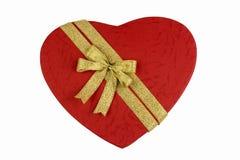 Lieben Sie Form-Geschenk-Kasten Lizenzfreie Stockbilder