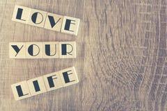 Lieben Sie Ihre Lebenmitteilung Stockbild