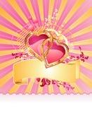 Lieben Sie Innere/mit Fahne/Valentinsgruß/Vektor vektor abbildung