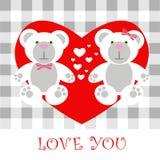 Lieben Sie Karte Teddybären Lizenzfreie Stockfotografie