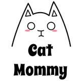 Lieben Sie meine Cat Mommy Lizenzfreies Stockbild
