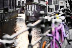 Lieben Sie mich Amsterdam Stockfotografie