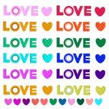 Lieben Sie Sie mit Herzen - Illustration Lizenzfreies Stockbild