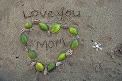 Lieben Sie Sie Mutter Lizenzfreies Stockbild