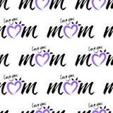 Lieben Sie Sie Mutterhintergrund Stockfotografie