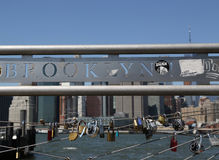 Lieben Sie Verschlüsse am Brooklyn-Brücken-Park in New York Lizenzfreie Stockfotografie