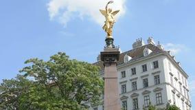The Liebenberg monument in Vienna. The monument dedicated to Johann Andreas von Liebenberg in Vienna stock footage