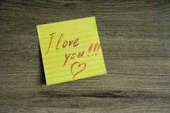 Liebes-Anmerkung Stockbilder