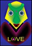 Liebes-Ausländer lizenzfreie abbildung