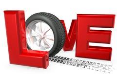 Liebes-Autos stock abbildung