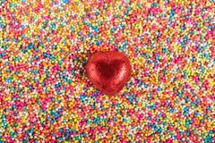 Liebes-bunte Süßigkeit Stockfotografie