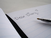 Liebes Diary Stockfoto
