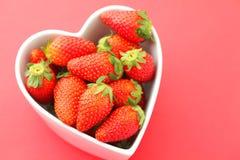 Liebes-Erdbeeren Lizenzfreies Stockfoto