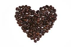 Liebes-Form-Kaffeebohne Lizenzfreies Stockfoto