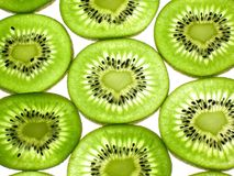 Liebes-Form-Kiwi-Scheiben Lizenzfreies Stockbild