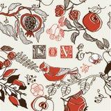 Liebes-Garten-Muster Stockbilder
