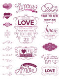 Liebes-Gestaltungselemente Lizenzfreie Stockbilder