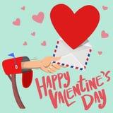 Liebes-Handzeichen des Valentinsgrußes glückliches Lizenzfreies Stockfoto