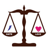 Liebes-Hassgefühle belastet die selben Stockfotos