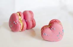 Liebes-Herz Macaron Lizenzfreies Stockbild