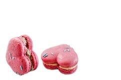 Liebes-Herz Macarons Lizenzfreie Stockbilder