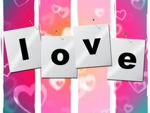 Liebes-Herz stellt Valentine Day And Boyfriend dar Lizenzfreie Stockfotografie